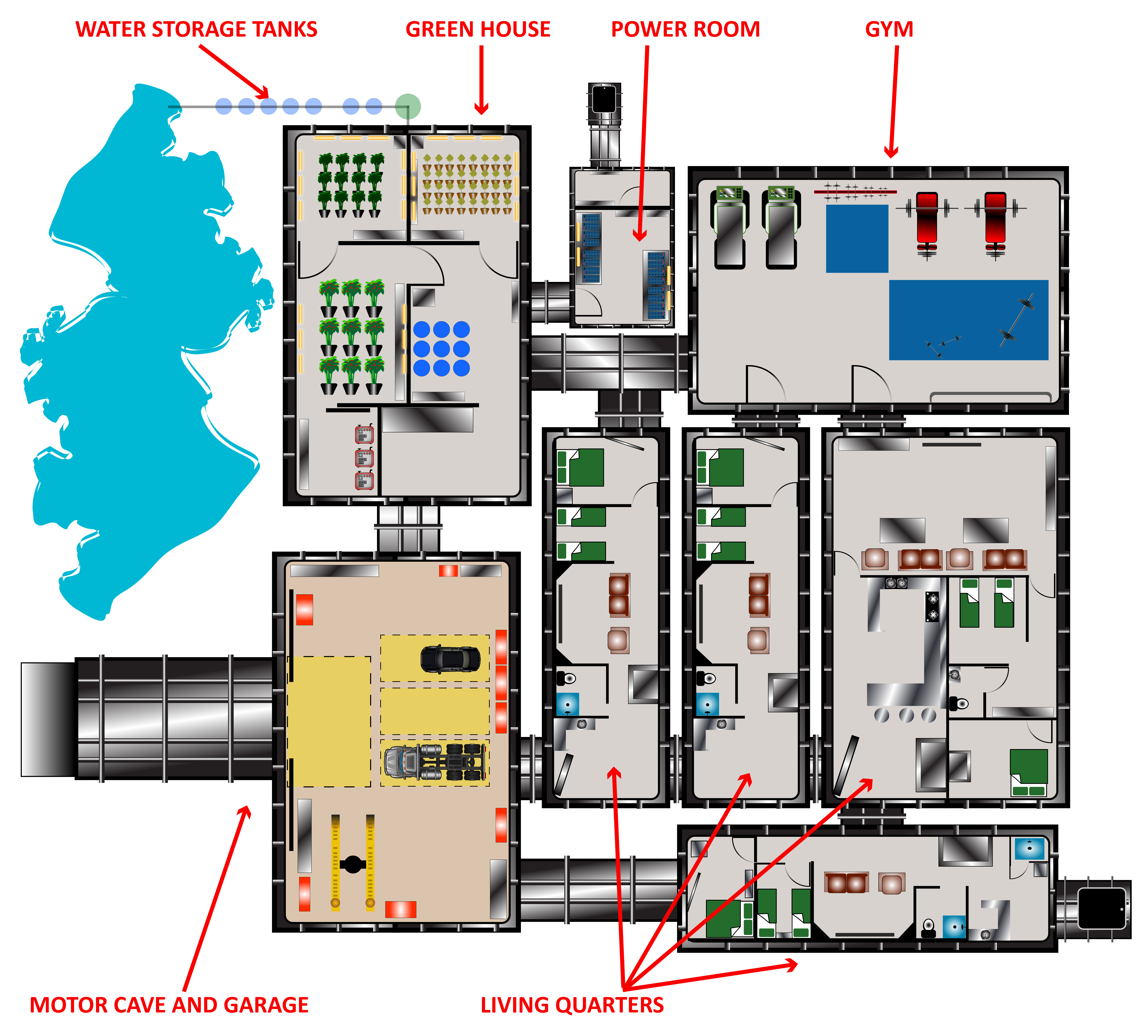 Cool Underground Floor Plan. Rising S Bunkers and Bomb Shelters offers the best underground steel  shelters bomb safe rooms blast doors on market shelter bunkers Pesquisa Google Secret