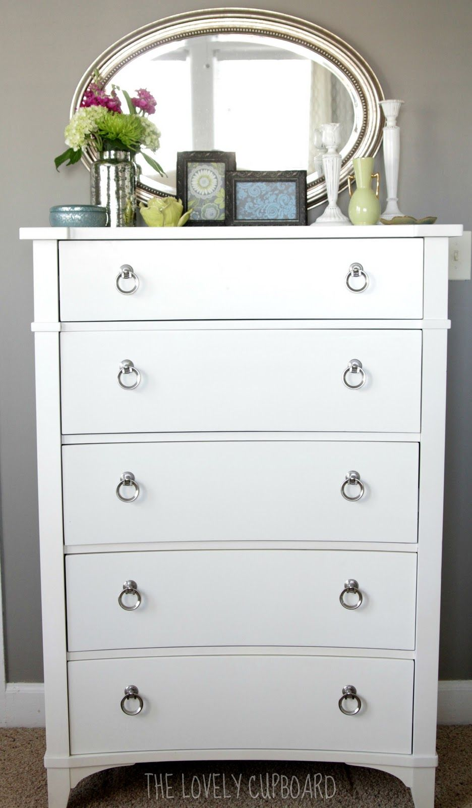 6th Street Design School Feature Friday The Lovely Cupboard Dresser Decor Bedroom Dressers Dresser Decor Bedroom