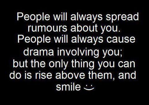 spreading rumor quotes and pics | People will always spread