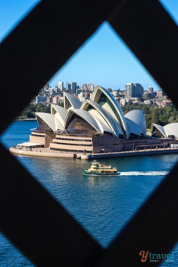 Walk across the Sydney Harbour Bridge and get views of the famous Opera House - one of the best free things to do in Sydney, Australia!