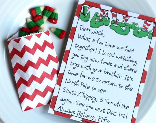 Free Printable Elf on the Shelf Letterhead Elves Free printable