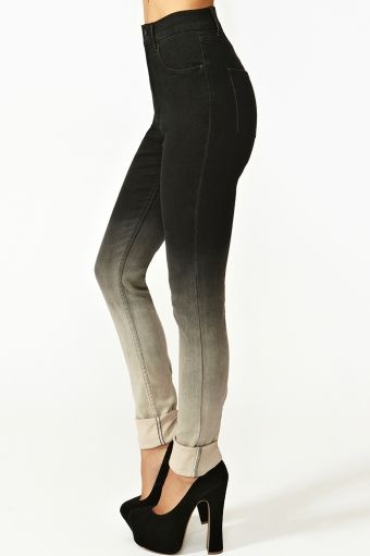 1cd83b9336706 Black and white ombre fade jeans - NastyGal. Diy with Black skinny ...