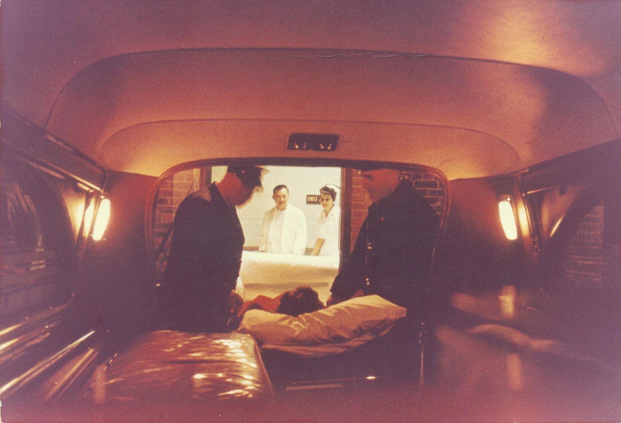 Inside An Ambulance From 1965 Ambulance Hearse Emergency Equipment