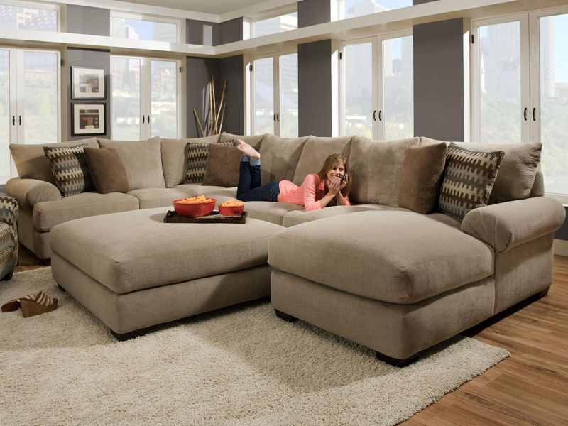 Bacarat Sectional By Oxford Park Comfortable Sectional