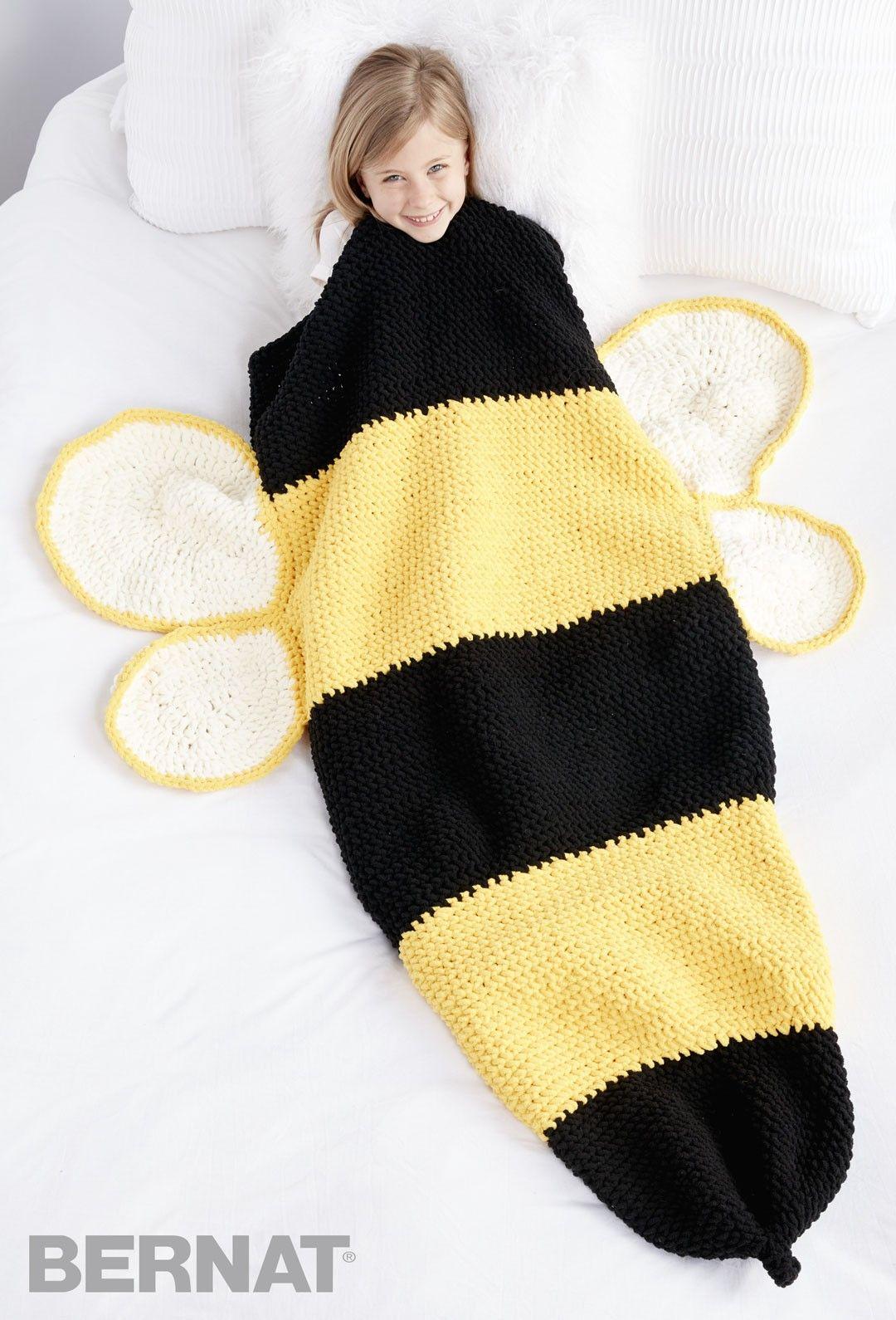 Bumble Bee Crochet Snuggle Sack - Patterns | Yarnspirations ...