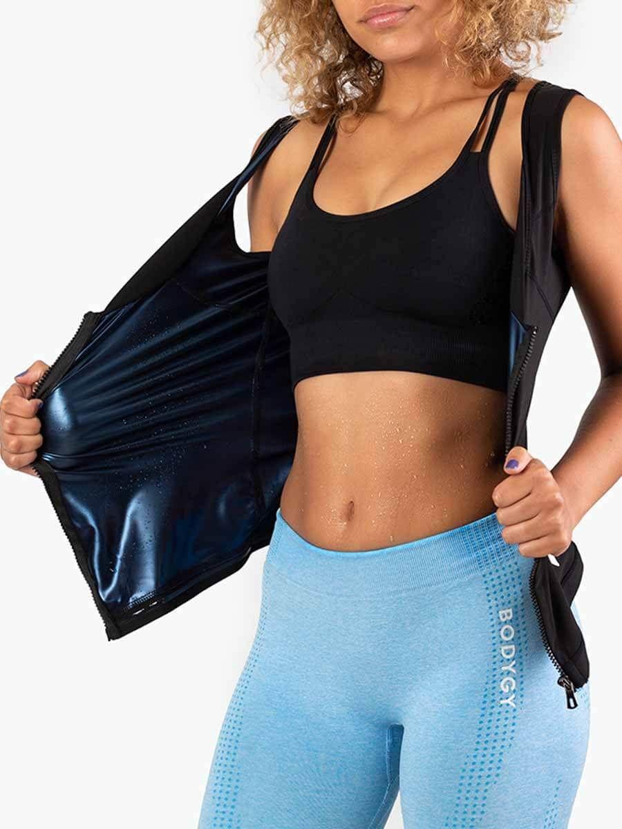 Heat Trapping Zipper Sweat Vest