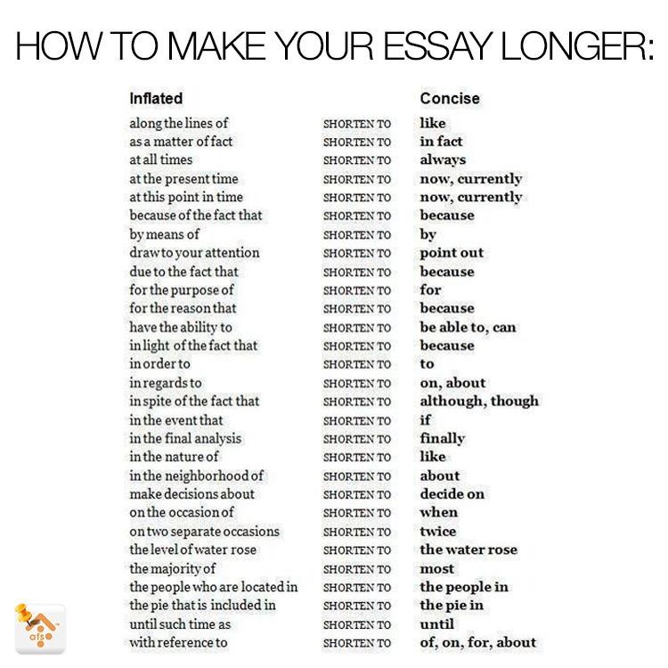 How To Make Your Essays Longer Escribir Palabras Escribiendo Consejos Escribir Un Ensayo