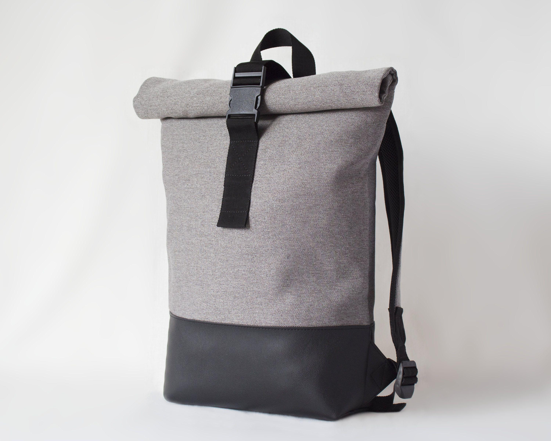 Sahara Wind Backpack Rolltop Backpack Canvas Rucksack Etsy Rolltop Backpack Backpacks City Backpack