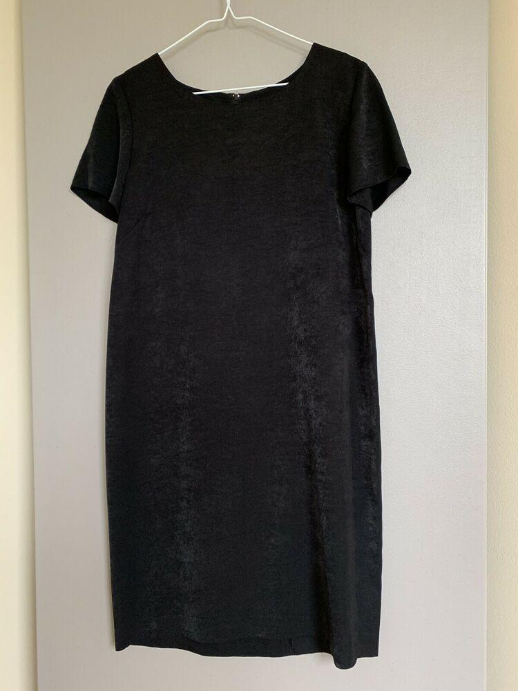 5d788976baf LESLIE FAY Sheath Dress 10P Short Sleeve Black Formal Dressy  fashion   clothing  shoes