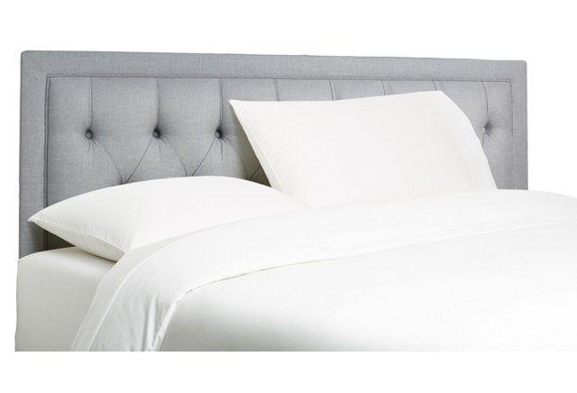 Alix Tufted Headboard, Gray Linen | Guest Room/Office - NYC | Pinterest