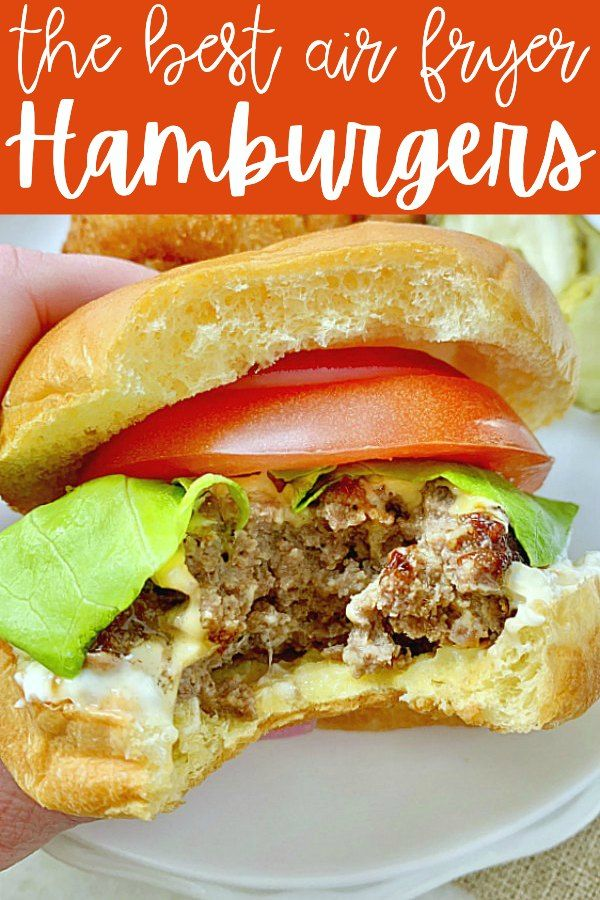 Air Fryer Burgers Foodtastic Mom airfryerrecipes