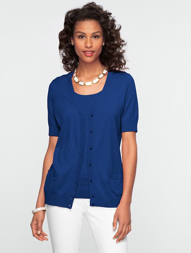Talbots - Kelly Short-Sleeve Cardigan | | Misses | My Style ...