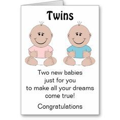 Image Result For Baby Shower Greeting Cards For Twins All About