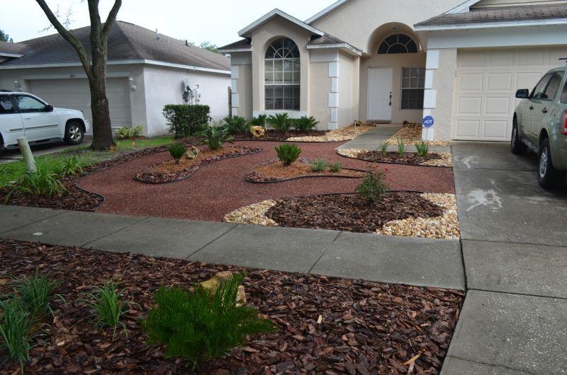 grassless yard - Google Search | Backyard landscaping ... on Grassless Garden Ideas  id=22073