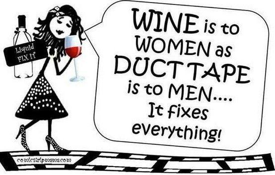 Liquid fix-it? #wine #winehumor