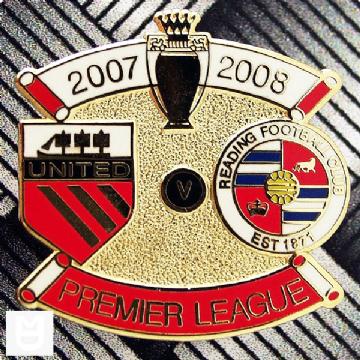 UNITED v READING PL Match Badge 200708 WR The unit