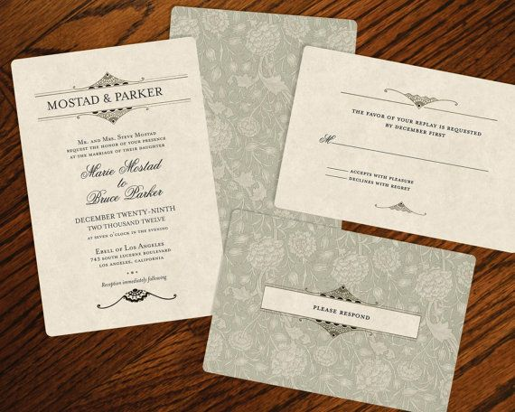 vintage wedding invitations - Vintage Style Wedding Invitations