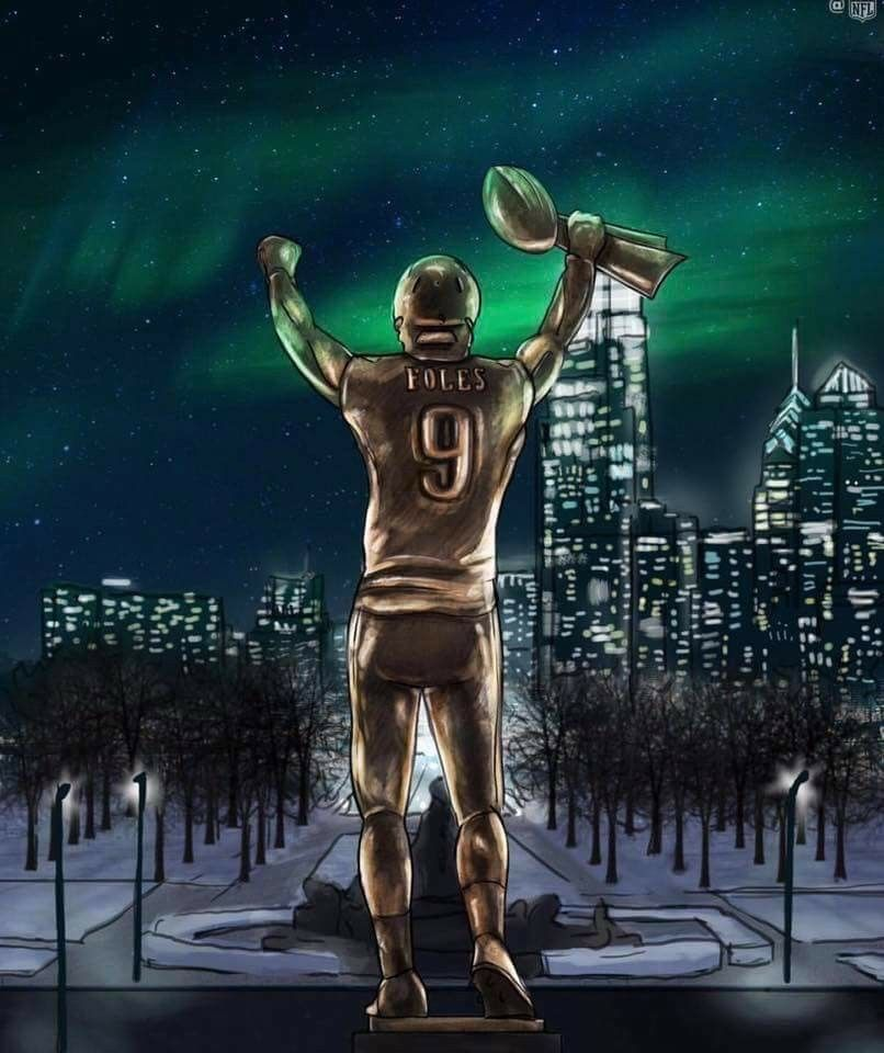 Nick Foles Statue Follow Me On Pinterest Dubstepgamer5 For More Pins Like Thi Philadelphia Eagles Football Philadelphia Eagles Fans Nfl Philadelphia Eagles