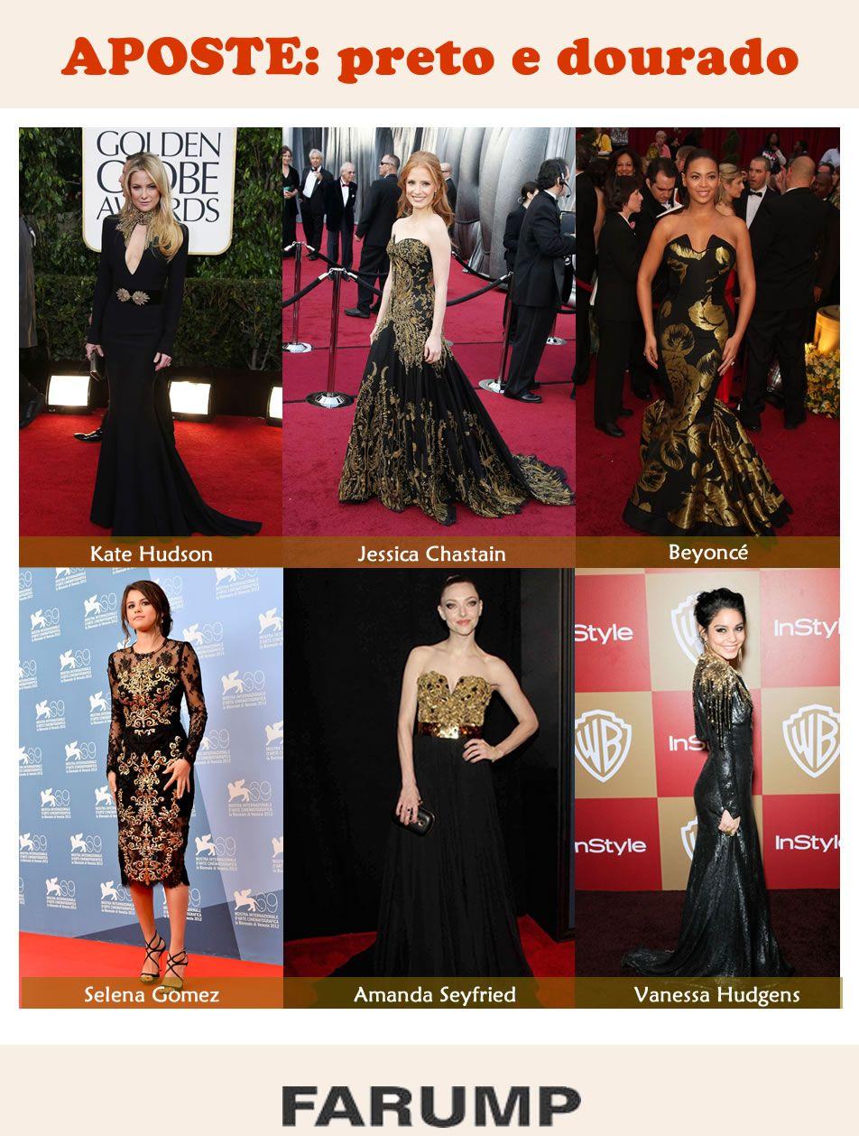 Faça como as celebridades e aposte no clássico black   gold!   dicas ... 7c13b68b2e