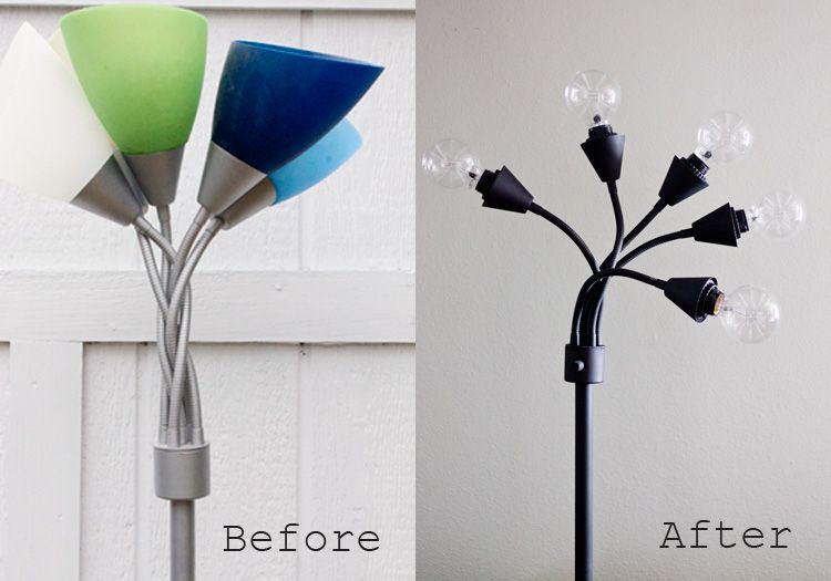 Industrial Lamp Diy Lamp Makeover Diy Floor Lamp Diy Lamp