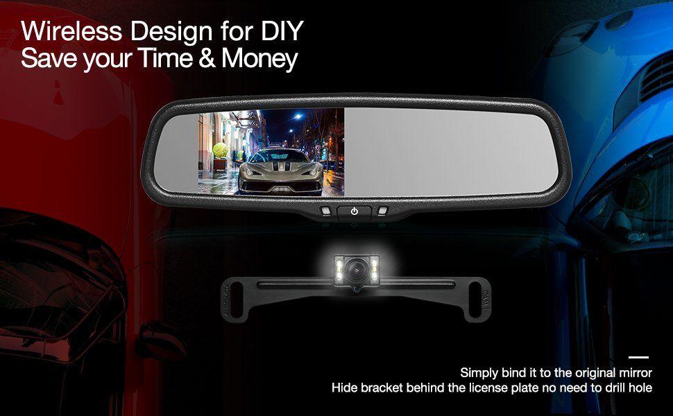 Wireless Backup Camera Mirror Waterproof Back Up Cam