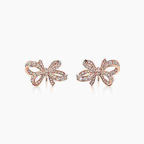 18kt rose gold Tiffany Victoria diamond small stud earrings - Metallic Tiffany & Co. X5cakpHqjq