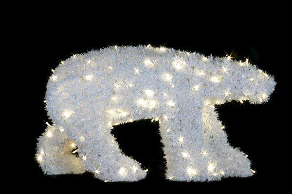 Medveď veľký polárny - LED - 840mm x 1560mm - OPMV-01-L