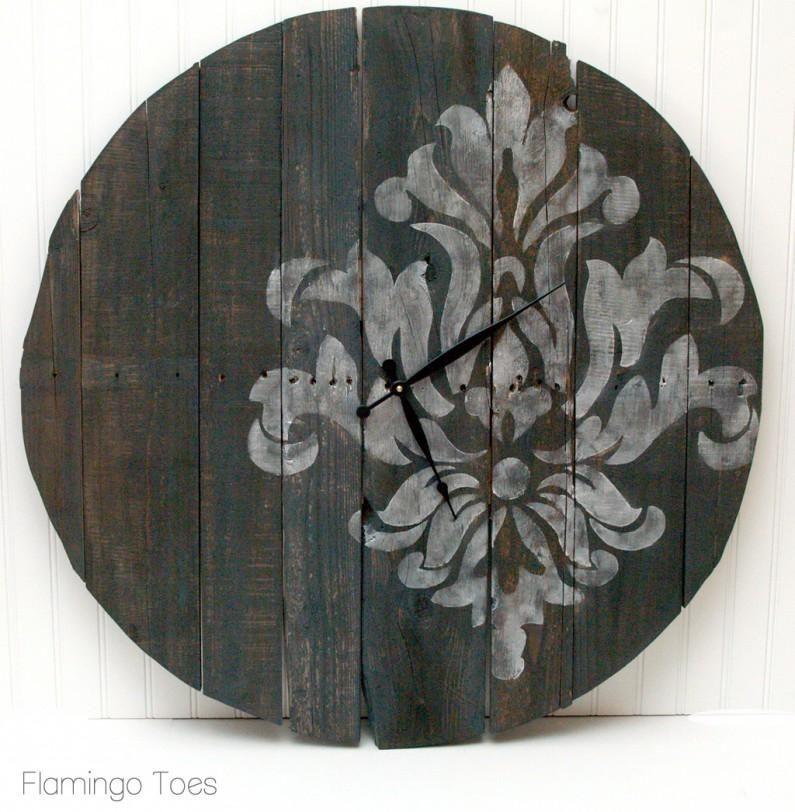 Diy large stencilled pallet clock diy wall art diy crafts diy home diy large stencilled pallet clock diy wall art diy crafts diy home solutioingenieria Images