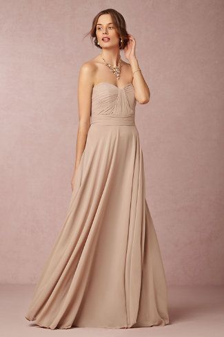Neutral bridesmaid dress for 2015 from BHLDN | Dress for the Wedding