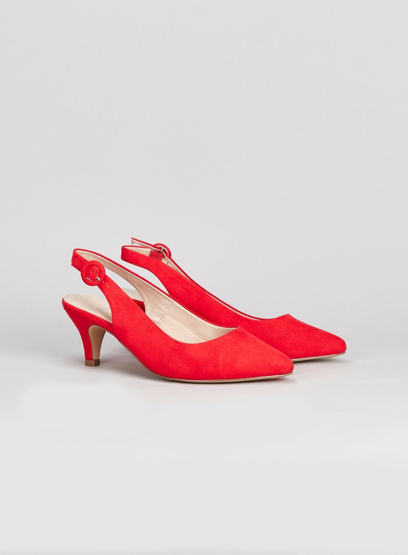 d179880d501e0 WIDE FIT Red Slingback Kitten Heel Court Shoes in 2019 | Things To ...