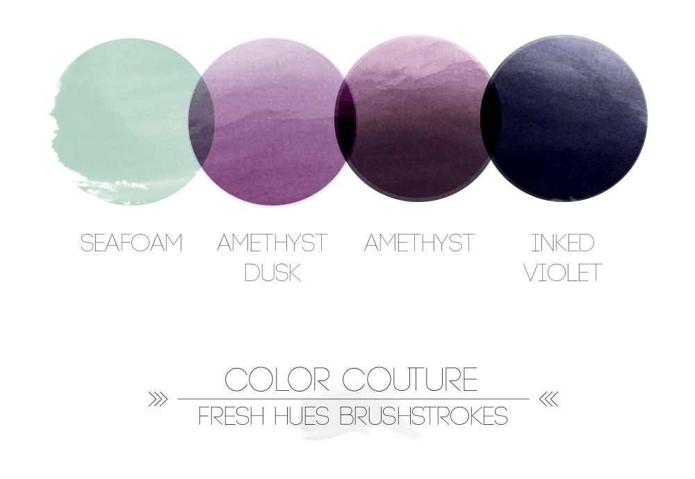 colour couture | fresh hues brushstrokes