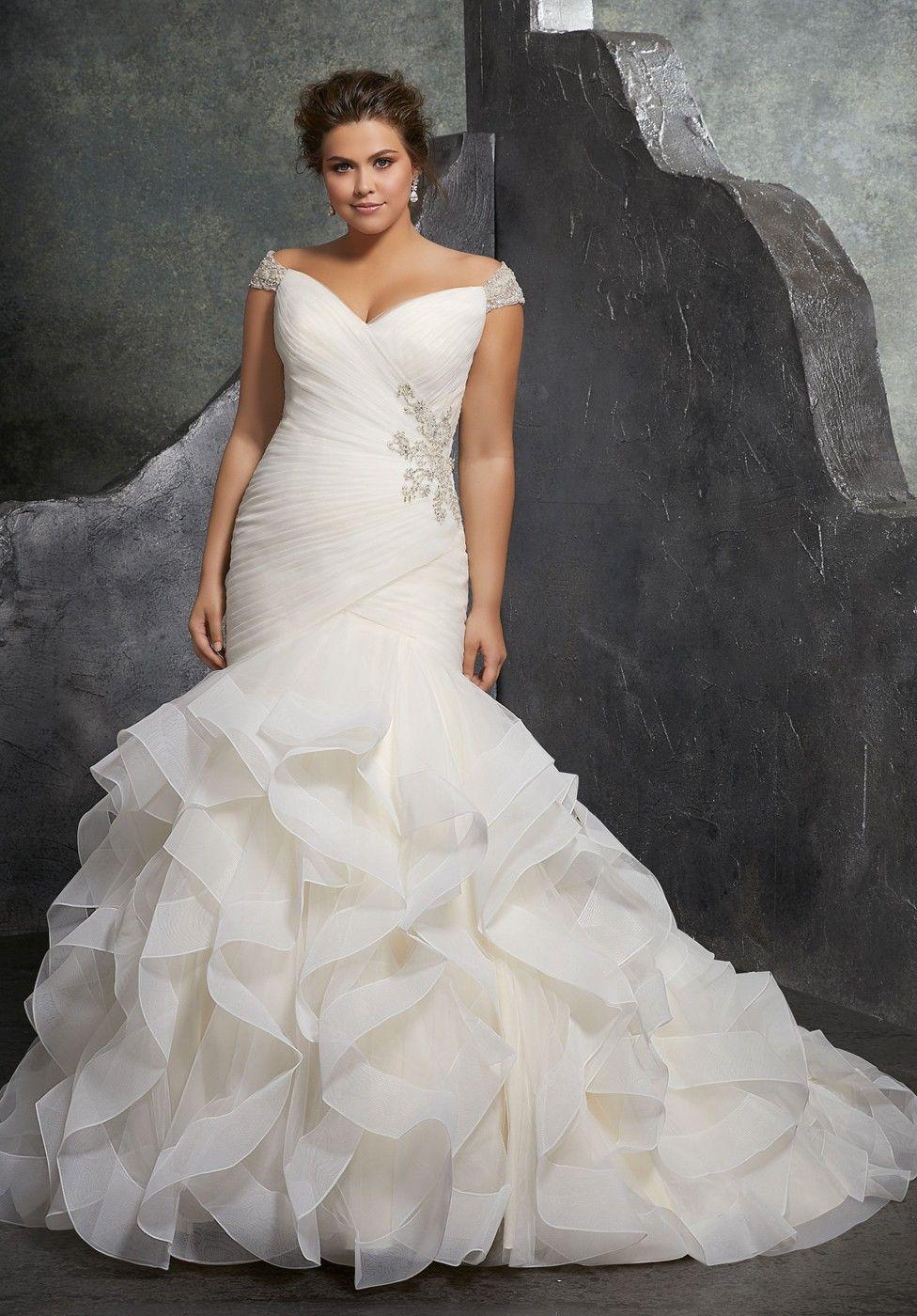 b3986b54b9d8 Mori Lee 3237 Kori Off-The-Shoulder Trumpet-Style Bridal Dress in ...