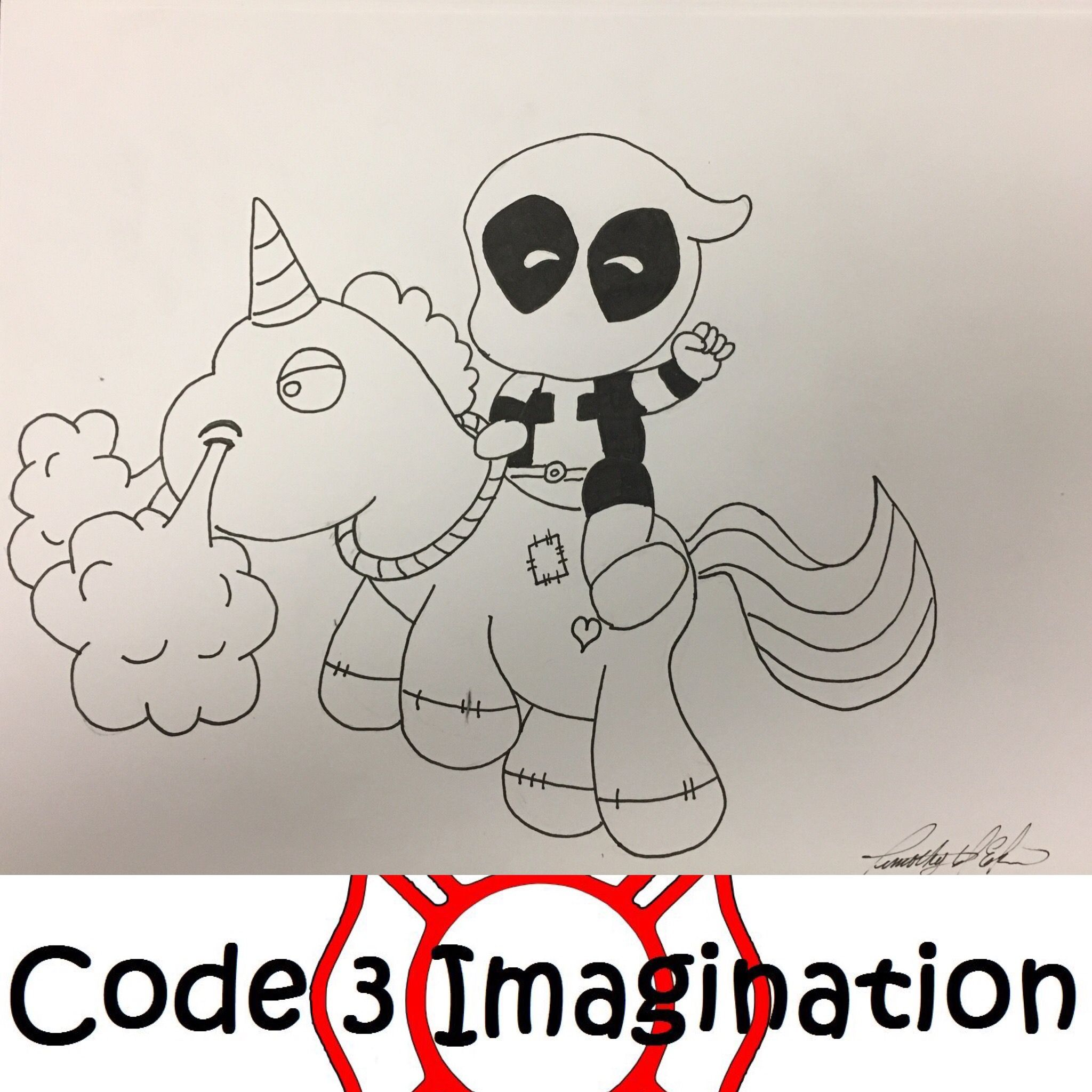 Birthday Unicorn For My Daughter Nope Could Not Draw A Normal Unicorn Deadpool Unicorn Deadpool Coloring Page Coloring Pages Marvel X To My Daughter