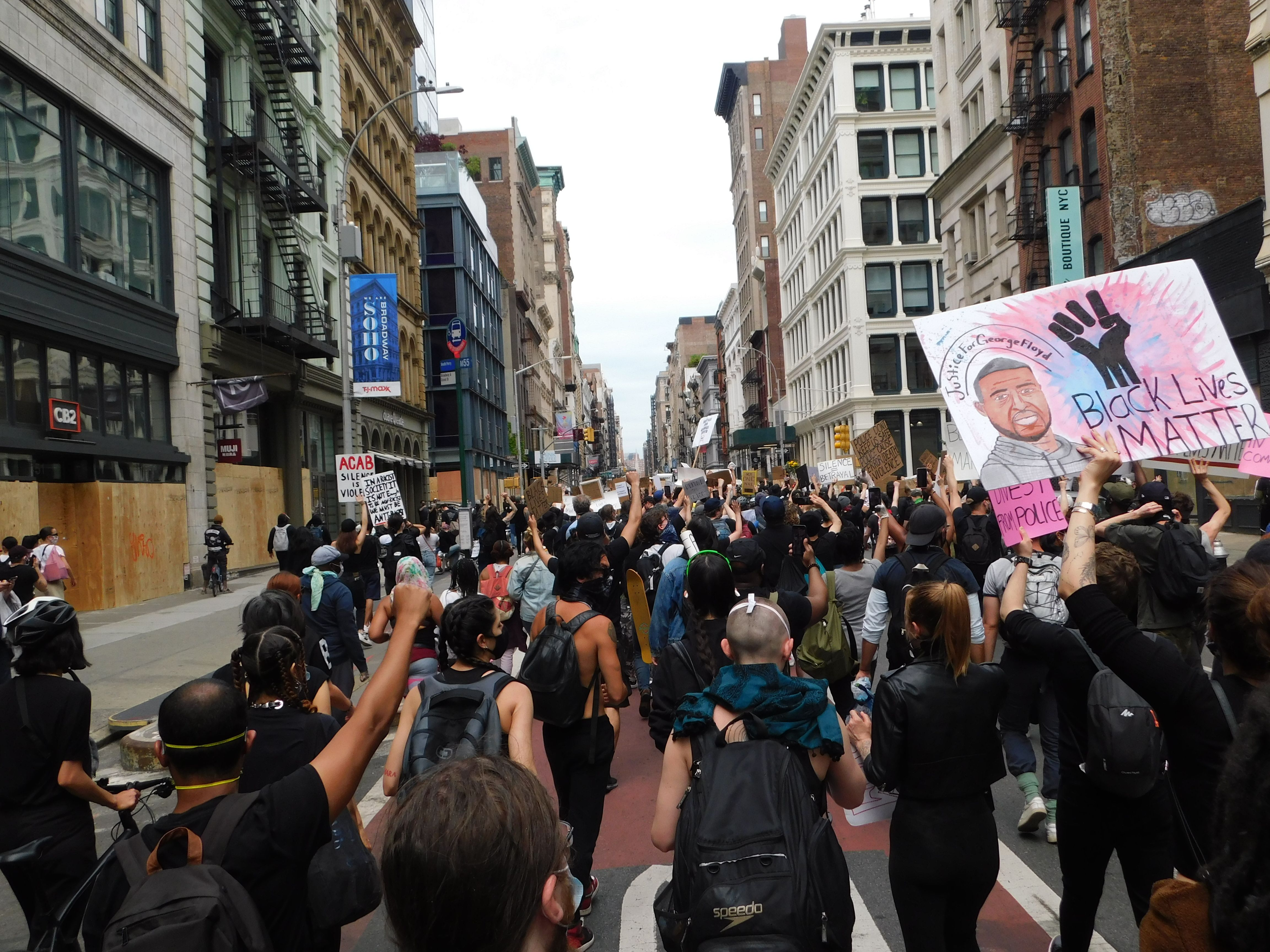 Soho New York City Blm Protest Black Lives Matter Protest Black Lives Matter Black Lives