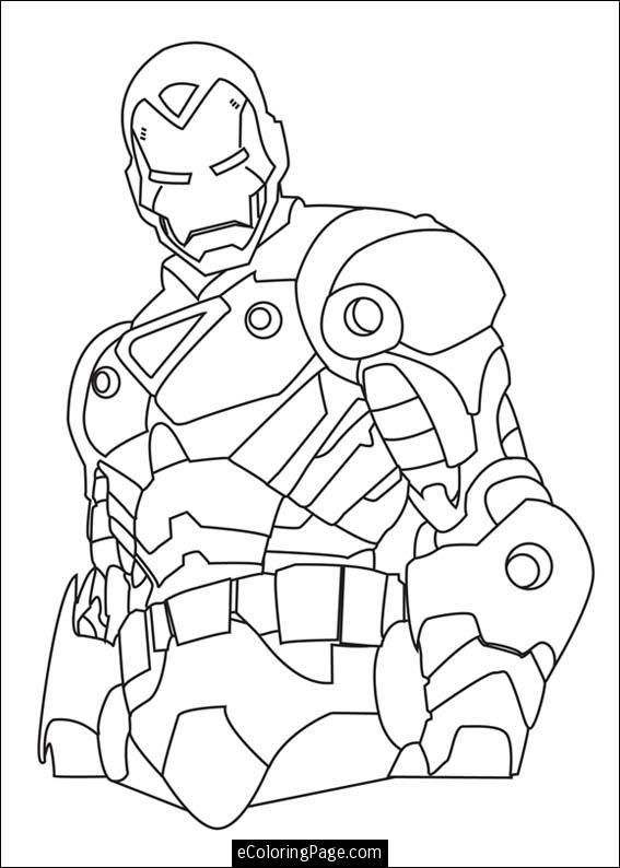 Marvel Superhero Ironman Coloring Page Projects To Try Pinterest
