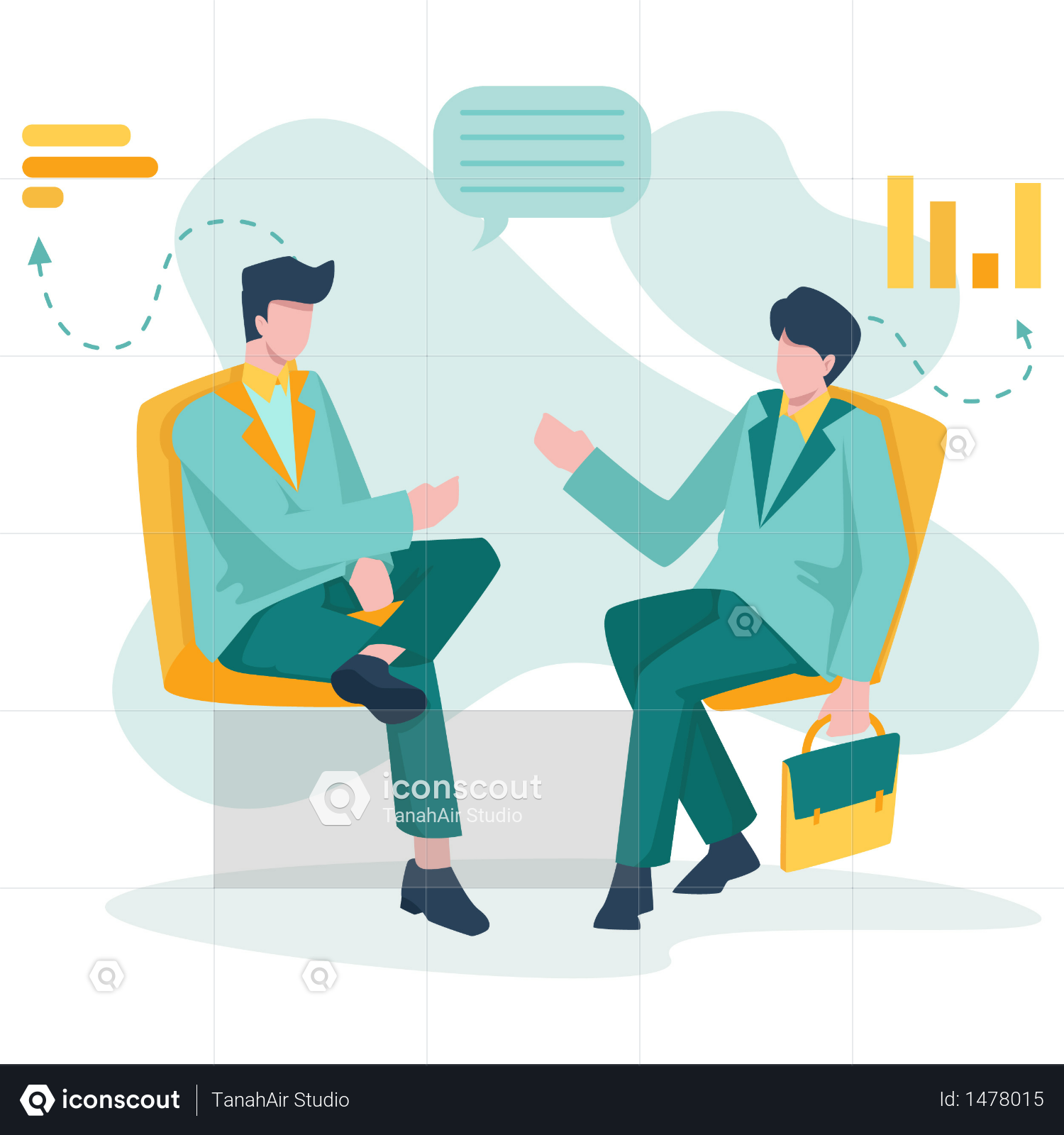 Premium Business Meeting With Client Illustration Download In Png Vector Format Business Illustration Business Meeting Illustration