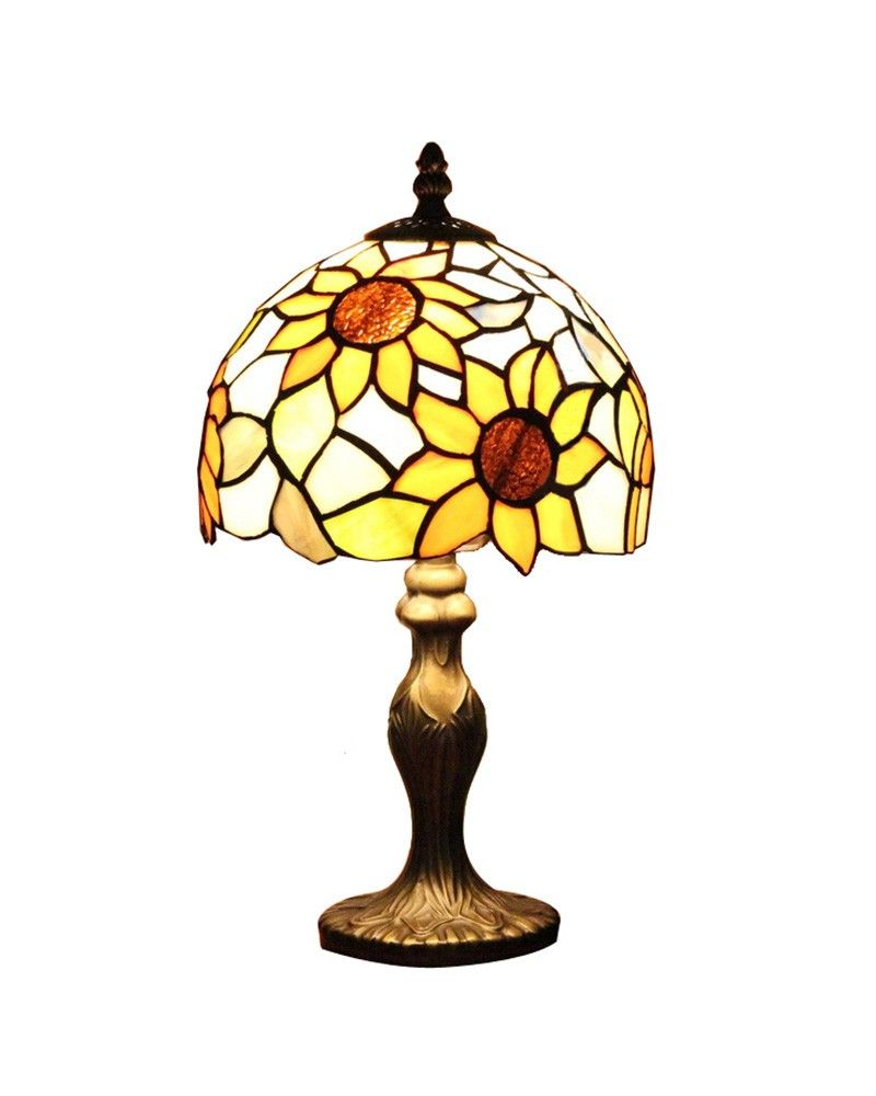 Small tiffany sunflower accent table lamps lamps lighting small tiffany sunflower accent table lamps geotapseo Choice Image