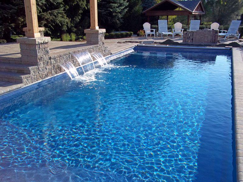 Rectangular Pools Inground Barcelona Large Fiberglass Inground