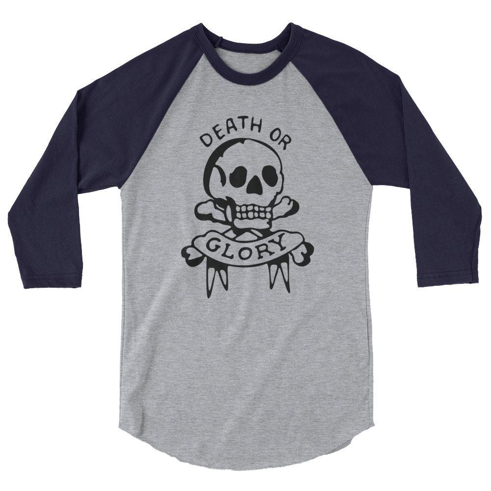 Death or glory oldschool tattoo sleeve raglan shirt raglan