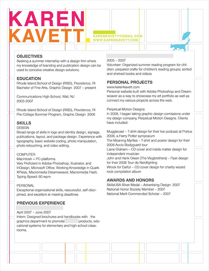 Unique Resume Formats How To Design A Resume  Karen Kavett  Professional  Pinterest