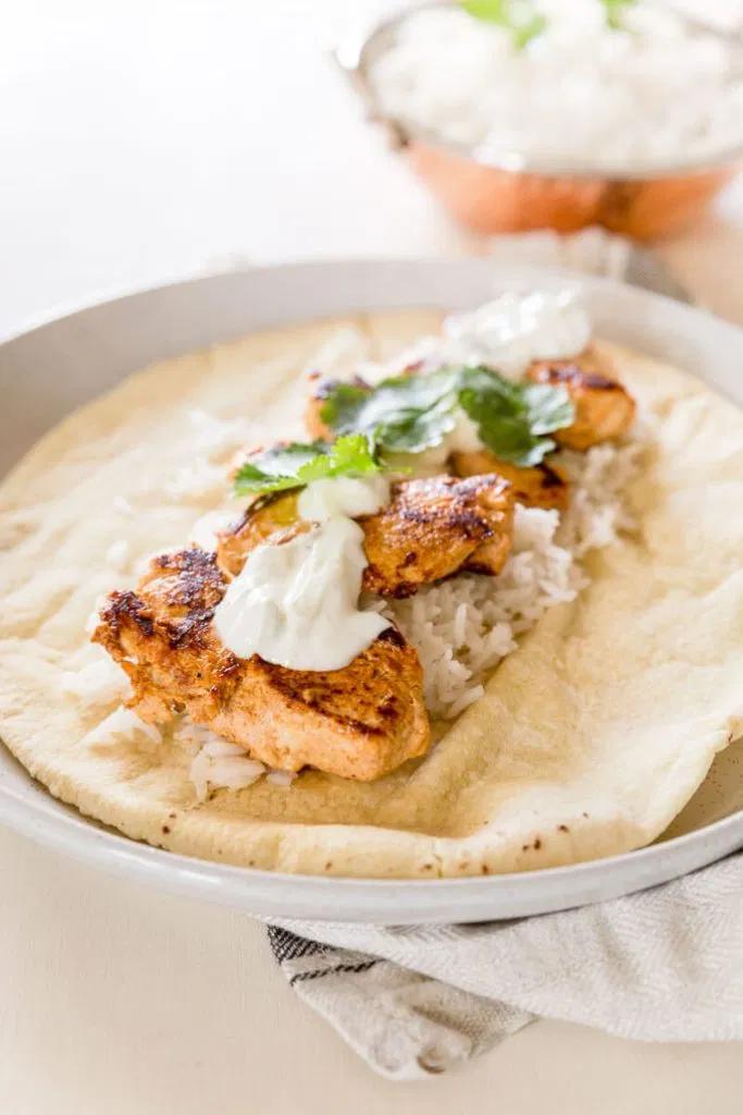 Tandoori Chicken Wraps #tandoorichicken