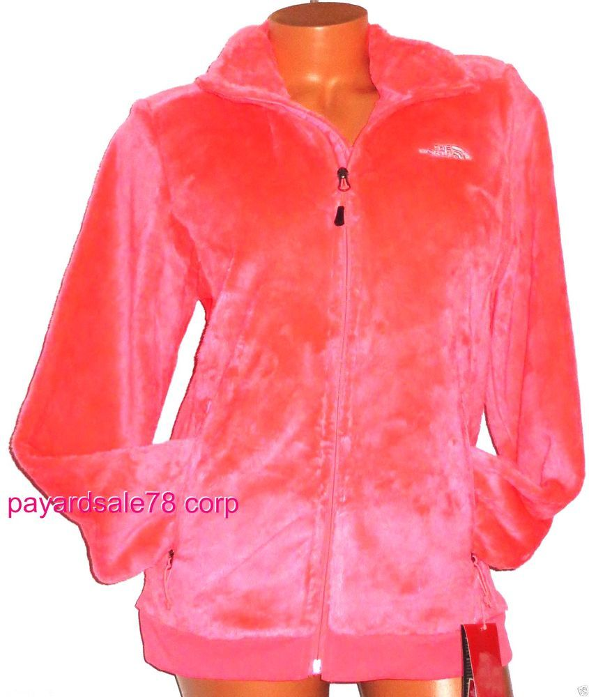 WOMEN MED THE NORTH FACE OSITO FULL ZIP FUZZY SILKEN FLEECE JACKET ...