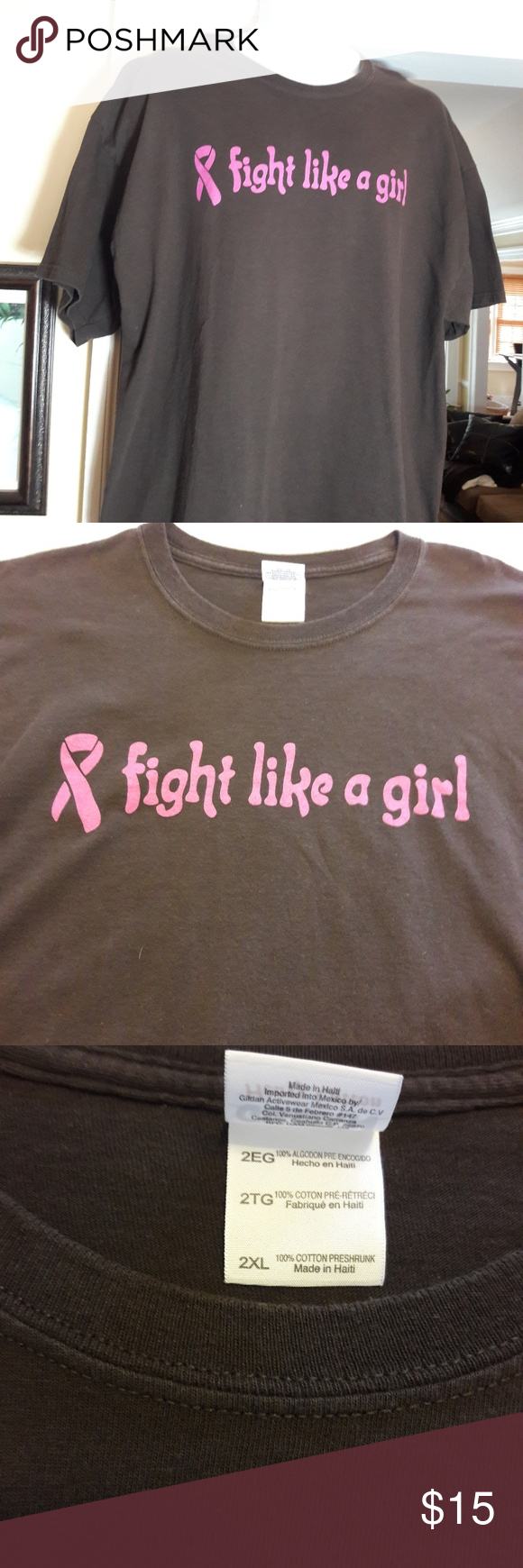 Brown fight like a girl breast cancer shirt pics 826