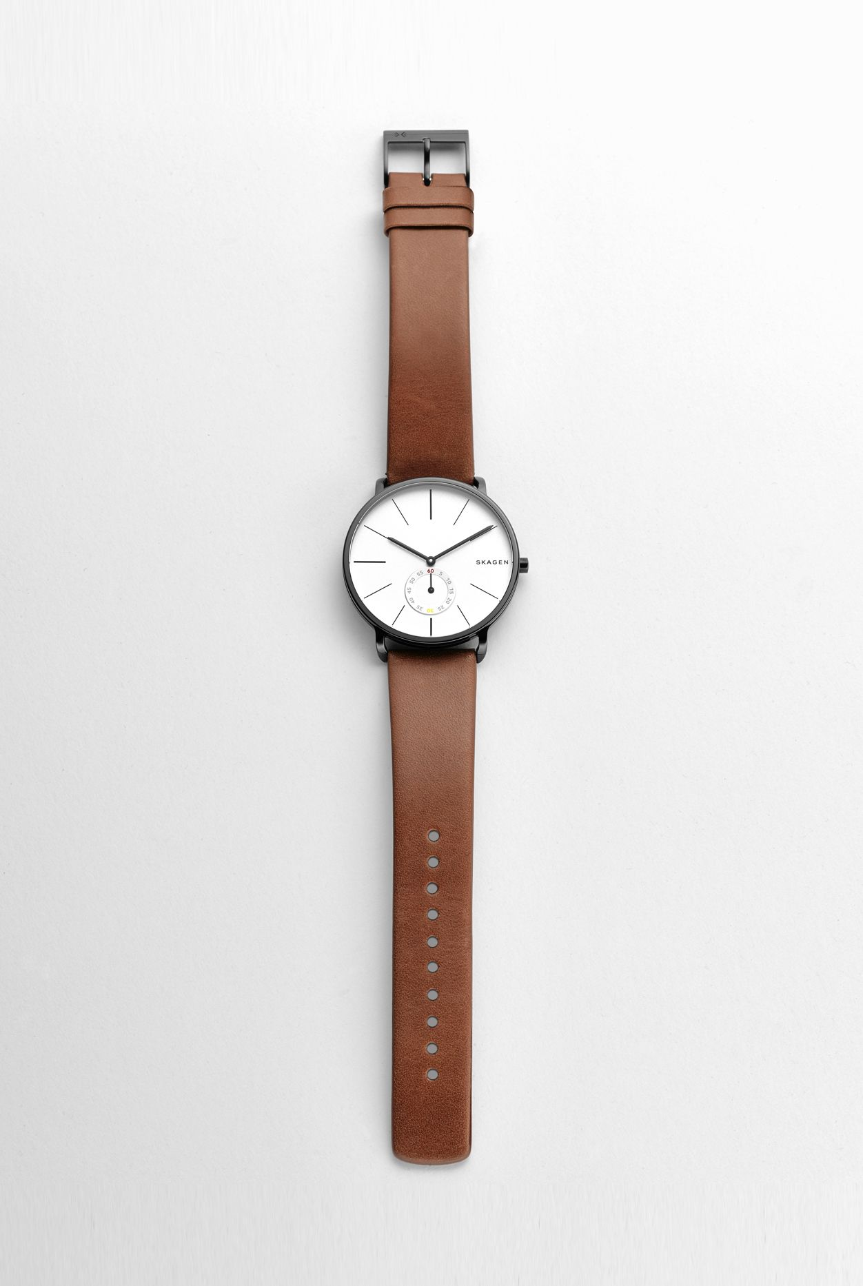 leather husband wedding day a strap thanks quality he to on watches with mens clear watchshop our and given is shop face my moon classic watch skagen great gents it hagen com over the tan