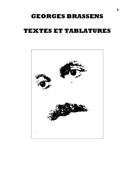 Brassens Integrale Tablature Music Tabs Digital Publishing