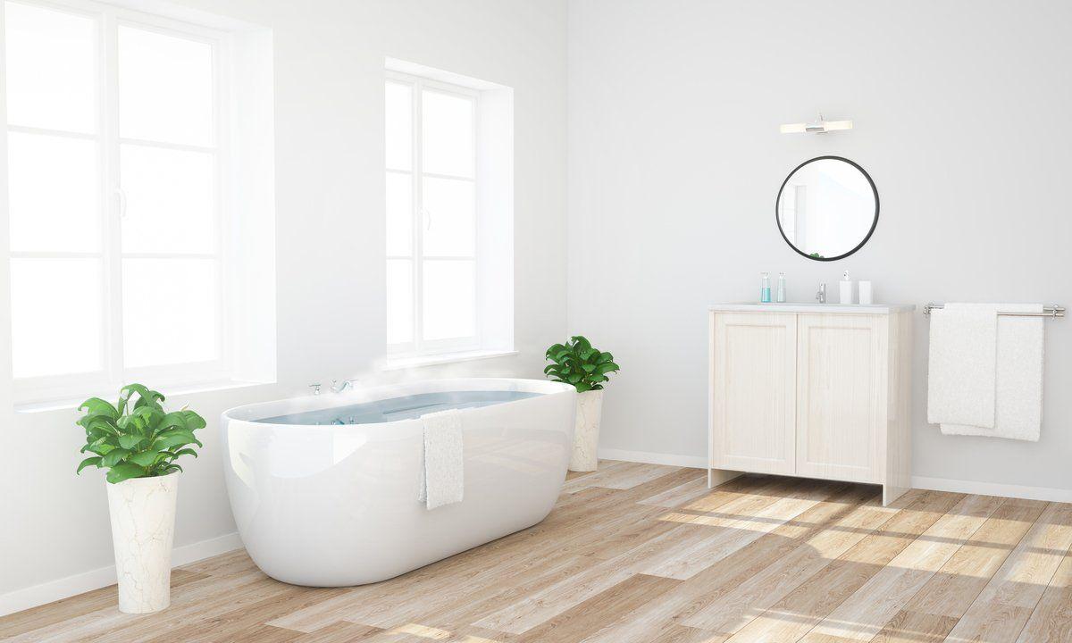 Heated Bathroom Floor Bathroom Floor Heating Cost Warmlyyours In 2020 Heated Bathroom Floor Bathroom Cost Bathroom Floor Tiles