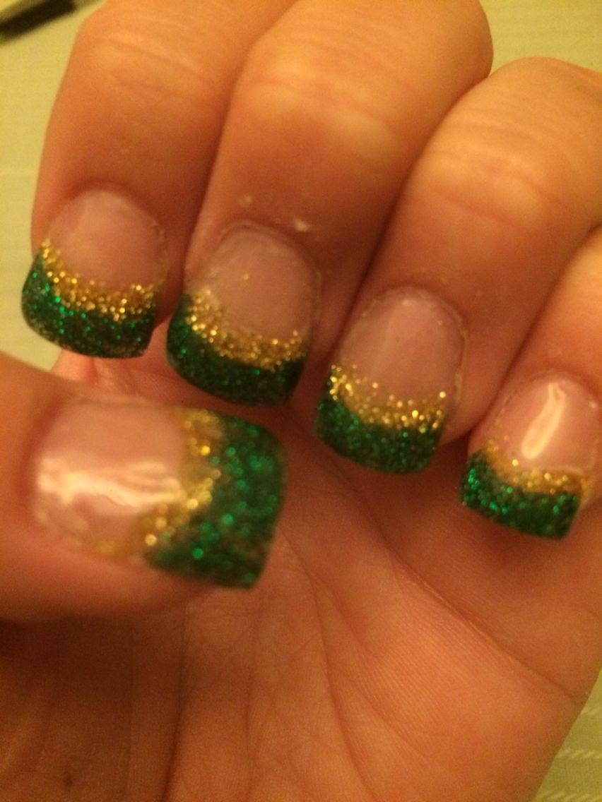 Green Bay Packers Nails Sports Nails Football Nail Designs Packer Nails