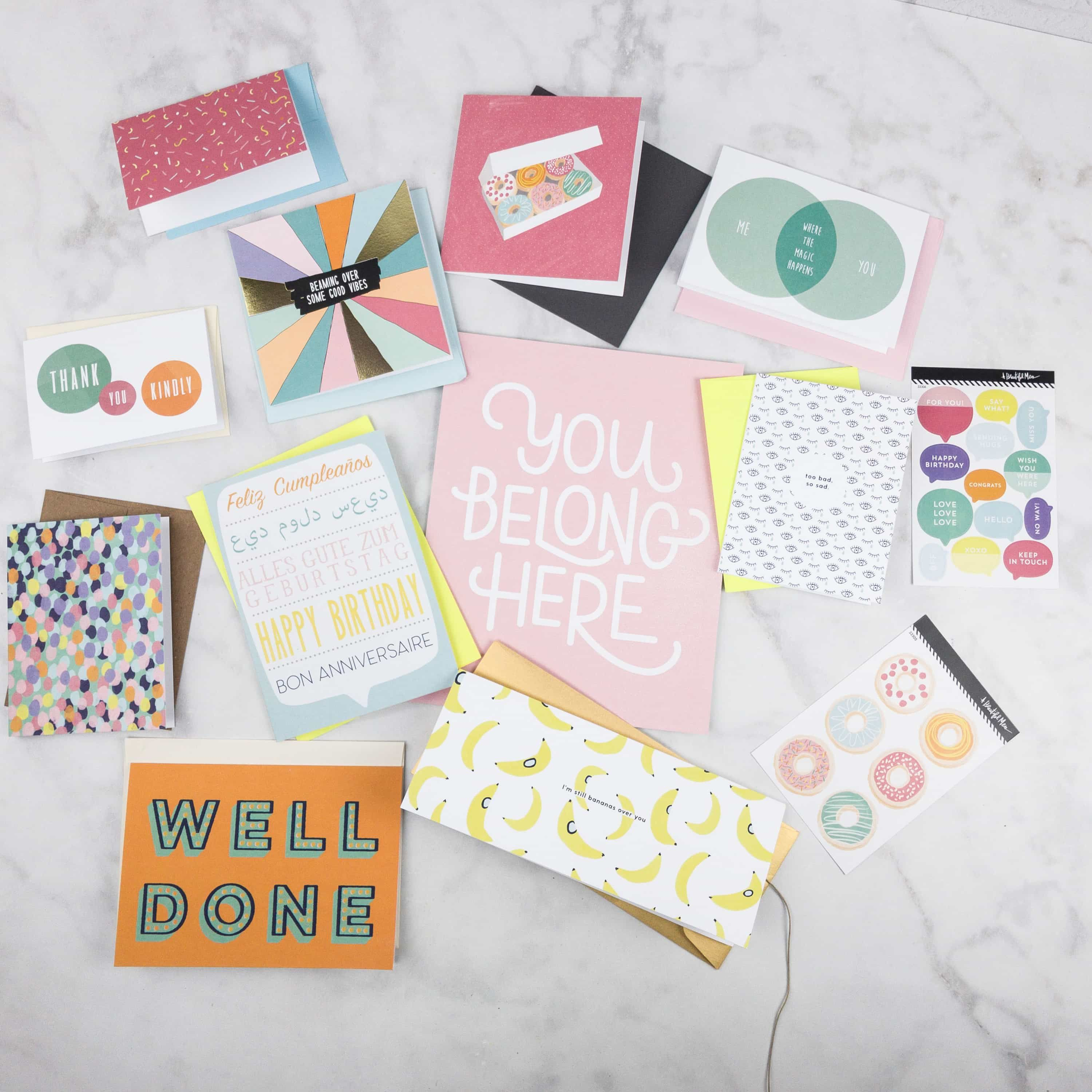 Greeting Cards, Prints, Stickers, And More! See My Happy Mail August 2017