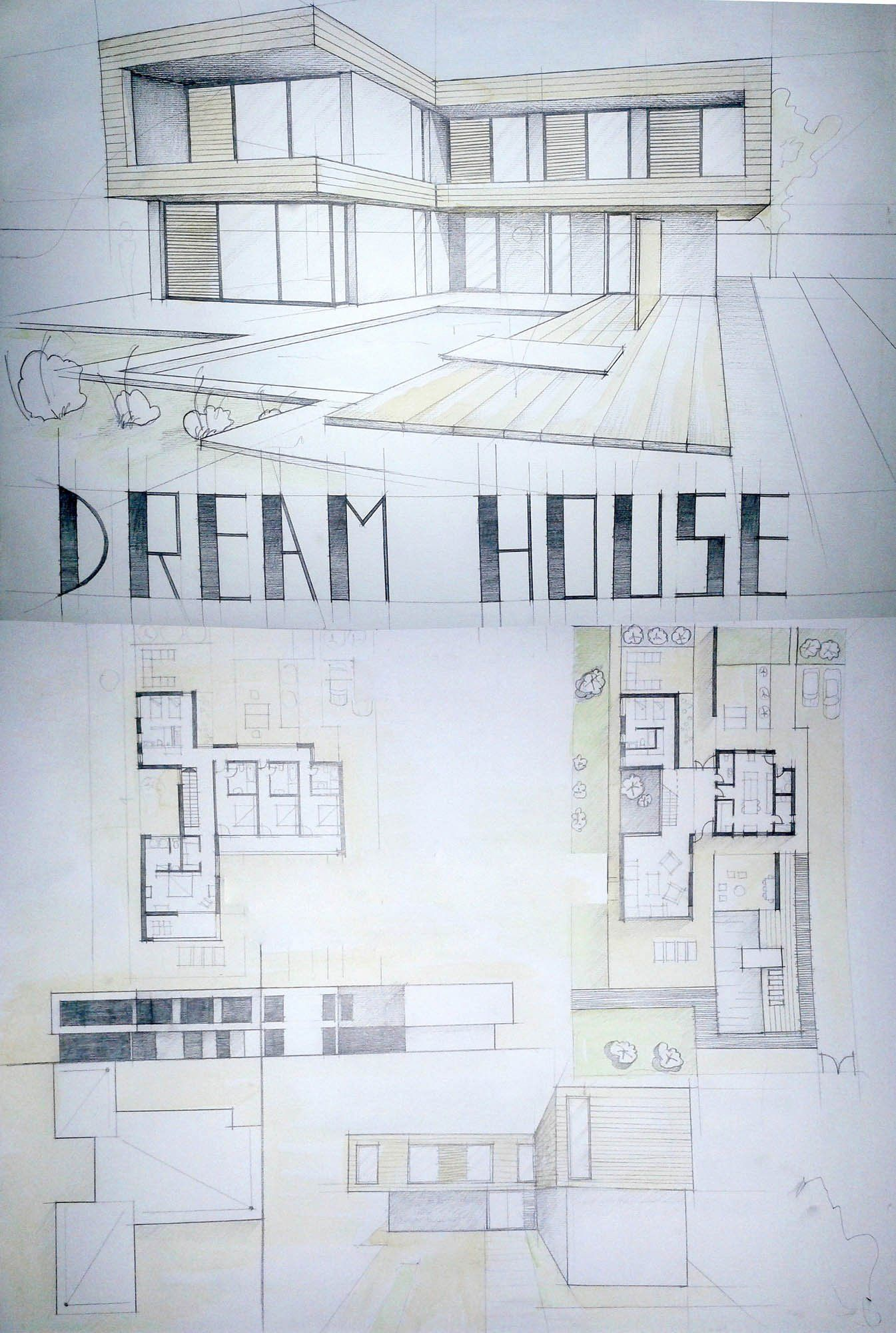 Modern House Perspective Drawing Images Fresh Modern House Drawing Perspective Floor Plans Design Dream House Drawing Drawing House Plans Architecture House