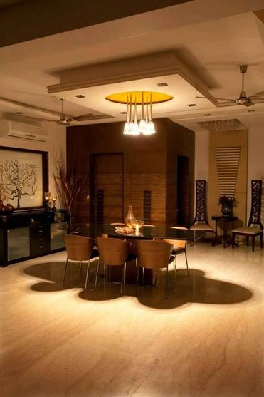 Modern Luxury Dining Room With Chandeliers Design By Madalsa Soni Interior Designer In Noida Up India Luxury Dining Room Dining Room Decor Indian Home Decor